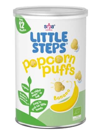 LITTLE STEPS Popcorn Puffs - Banana