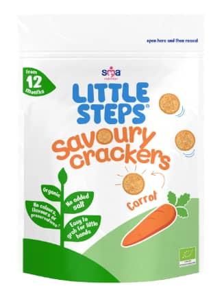 LITTLE STEPS Organic Savoury Crackers - Carrot